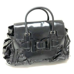 GUCCI QUEEN Top handle Hand Bag Black